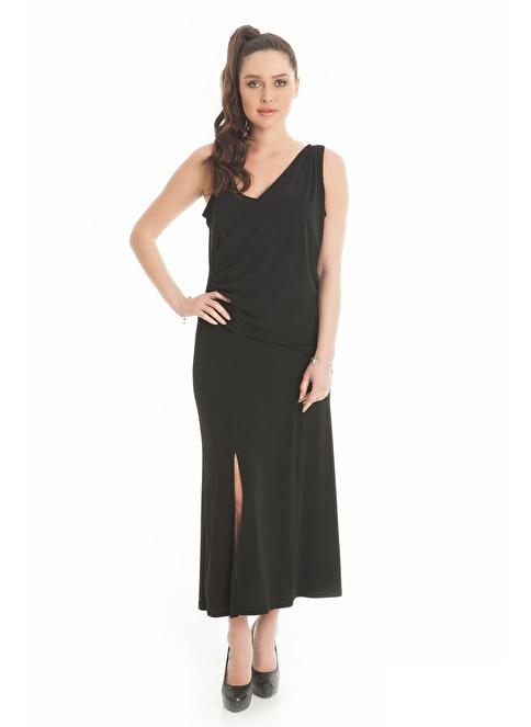 Hüseyin Küçük Büyük Beden Elbise Siyah